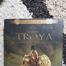 Cine: TROYA DVD EDICION ESPECIAL 2 DISCOS STEELBOOK CAJA METALICA MONTAJE DEL DIRECTOR - BRAD PITT. Lote 175900555