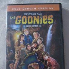 Cine: DVD IMPORTACION THE GOONIES LOS GOONIES IMPORTACIÓN VERSION ORIGINAL LARGA DURACIÓN RICHARD DONNER . Lote 175950150