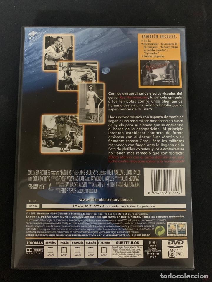 Cine: ( S200 )LA TIERRA CONTRA LOS PLATILLOS VOLANTES ( dvd Segunda mano impoluta ) - Foto 2 - 176215149