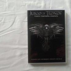 Cine: JUEGO DE TRONOS - CUARTA TEMPORADA COMPLETA - DVD. Lote 176233735