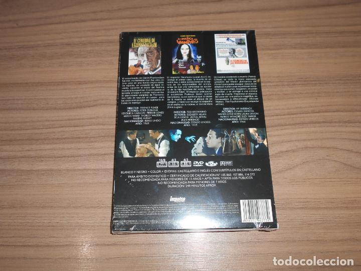 Cine: Pack TERROR 3 DVD La CAMARA de Los HORRORES - La MARCA del VAMPIRO - el CEREBRO de FRANKENSTEIN - Foto 2 - 176270238