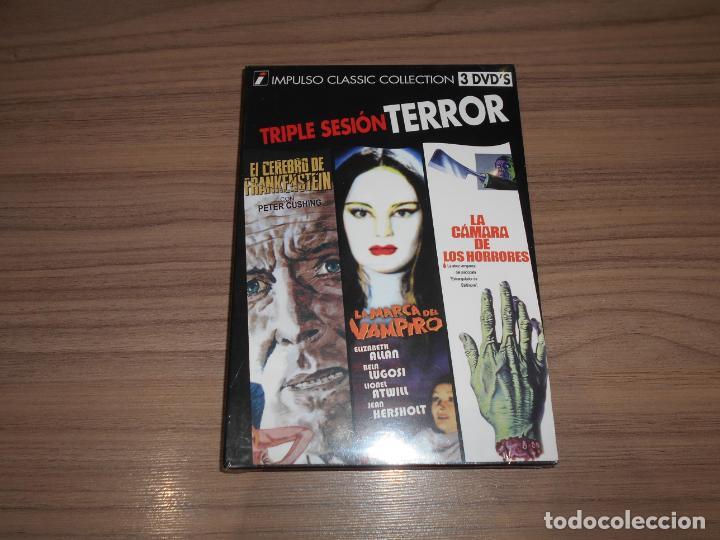 PACK TERROR 3 DVD LA CAMARA DE LOS HORRORES - LA MARCA DEL VAMPIRO - EL CEREBRO DE FRANKENSTEIN (Cine - Películas - DVD)