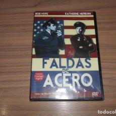 Cine: FALDAS DE ACERO EDICION ESPECIAL NUEVO MASTER DIGITAL DVD BOB HOPE KATHERINE KEPBURN PRECINTADA. Lote 176382367