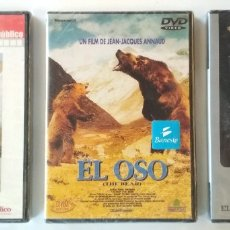Cine: LOTE DE 3 DVD'S PRECINTADOS, PELICULA EL OSO, PARADISE NOW, DOCUMENTAL GRIZZLY MAN, DVD. Lote 176448377