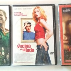 Cine: LOTE DE 3 PELICULAS EN DVD, INVICTUS, LA VECINA DE AL LADO, MALICIA. Lote 176448553