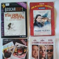 Cine: LOTE DE 4 PELICULAS EN DVD, EN TIERRA HOSTIL, PASSENGERS, Y SI NO NOS ENFADAMOS, CHARLIE WILSON. Lote 176449275