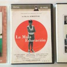 Cine: LOTE DE 3 PELICULAS ESPAÑOLAS EN DVD, Y TU MAMA TAMBIEN, LA MALA EDUCACION, LOS SANTOS INOCENTES. Lote 176498182