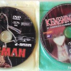 Cine: LOTE D 3 DISCOS DVD DE MANGA ANIME, EAT-MAN 1 Y KENSHIN EL GUERRERO SAMURAI, NEON GENESIS EVANGELION. Lote 176506020