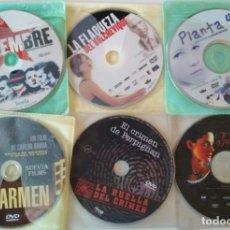 Cine: LOTE DE 6 PELICULAS ESPAÑOLAS EN DVD, NOVIEMBRE, CARMEN, PLANTA 4ª, JUANA LA LOCA, EL CRIMEN DE PERP. Lote 176507229