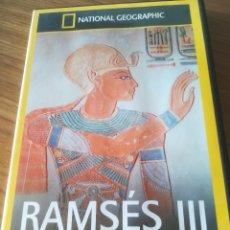 Cine: NATIONAL GEOGRAPHIC - RAMSES III LA CONSPIRACION DEL HAREN. Lote 176544628