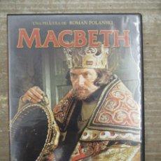 Cine: DVD - MACTBETH - POLANSKI - PEDIDO MINIMO 4 PELICULAS O PEDIDO MINIMO DE 10€. Lote 176849745
