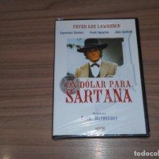 Cinema: UN DOLAR PARA SARTANA DVD PETER LEE LAWRENCE NUEVA PRECINTADA. Lote 177375777