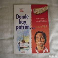 Cine: DVD DONDE HAY PATRON... DE MANOLO ESCOBAR. Lote 177421364