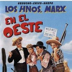 Cine: LOS HERMANOS MARX EN EL OESTE GO WEST. Lote 177440047