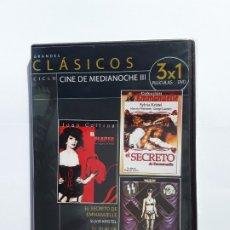 Cine: DVD, CLASICOS - CINE DE MEDIANOCHE III , 3 PELICULAS. PRECINTADO /. Lote 177658027