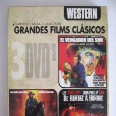 Cine: 3 DVD WESTERN GRANDES FILMS CLASICOS EL VENGADOR DEL SUR EL ESPCIALISTA DE HOMBRE A HOMBRE. Lote 177698955