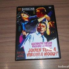 Cine: ¿ QUIEN TEME A VIRGINIA WOOLF ? DVD ELIZABETH TAYLOR RICHARD BURTON NUEVA PRECINTADA. Lote 293754968