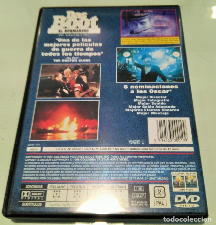 Cine: DAS BOOT -EL SUBMARINO- DVD - Foto 2 - 178725025