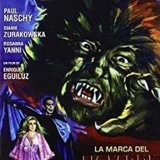 Cine: LA MARCA DEL HOMBRE LOBO DIRECTOR: ENRIQUE EGUILUZ ACTORES: PAUL NASCHY, DIANIK ZURAKOWSKA. Lote 178940452