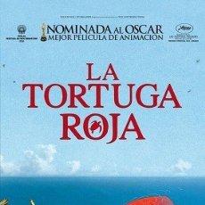 Cine: LA TORTUGA ROJA DIRECTOR: MICHAEL DUDOK DE WIT ACTORES: ANIMACIÓN . Lote 178971995