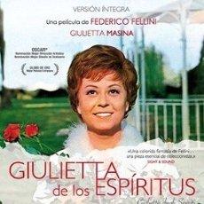 Cine: GIULIETTA DE LOS ESPÍRITUS DIRECTOR: FEDERICO FELLINI ACTORES: GIULIETTA MASINA, SANDRA MILO. Lote 178974511