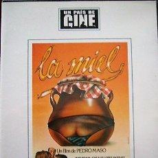 Cine: LA MIEL - PEDRO MASÓ. Lote 179068557