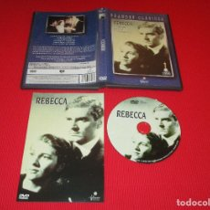Cine: REBECCA - DVD - FILMAX - GRANDES CLASICOS - ALFRED HITCHCOCK - LAURENCE OLIVIER - JOAN FONTAINE .... Lote 179076566