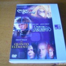 Cine: PACK 3 DVD / CRISTAL OSCURO / DENTRO DEL LABERINTO ......DAVID BOWIE. Lote 179105757
