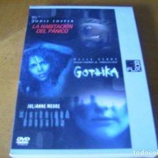 Cine: PACK 3 DVD / LA HABITACION DEL PANICO - GOTHIKA - MISTERIOSA OBSESION. Lote 179105832