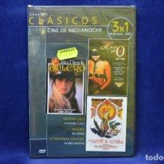Cine: HISTORIA DE O - BOLERO - LA VAMPIRESA DESNUDA - DVD. Lote 179234576