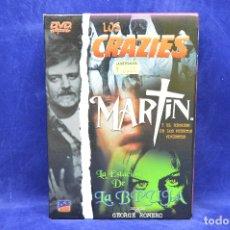 Cine: LOS CRAZIES - MARTIN Y EL REGRESO DE LOS MUERTOS VIVIENTES - LA ESTACION DE LA BRUJA - DVD. Lote 179254078