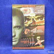 Cine: AÑO 1999 EL FIN DEL MUNDO - EL MONSTRUO - LA MASCARA MORTAL - TINIEBLAS EN LA MENTE - DVD. Lote 179254325