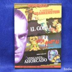 Cine: EL CASTILLO DE FRANKENSTEIN - EL GORILA - VUDU MORTAL - LA VENGANZA DEL AHORCADO - DVD. Lote 179254791