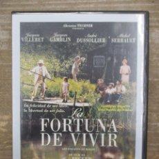 Cine: DVD - LA FORTUNA DE VIVIR - PEDIDO MINIMO 4 PELICULAS O PEDIDO MINIMO DE 10€. Lote 179318475