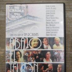 Cine: DVD - ABAJO EL TELON / TIM ROBBINS / - PEDIDO MINIMO 4 PELICULAS O PEDIDO MINIMO DE 10€. Lote 179321427