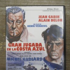 Cine: DVD - GRAN JUGADA EN LA COSTA AZUL / DELON GABIN - PEDIDO MINIMO 4 PELICULAS O PEDIDO MINIMO DE 10€. Lote 179322758