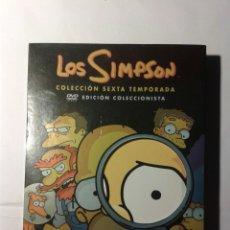 Cine: LOS SIMPSON SEXTA TEMPORADA COMPLETA EDICION COLECCIONISTA DVD. Lote 179399796