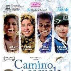 Cine: CAMINO A LA ESCUELA DIRECTOR: PASCAL PLISSON ACTORES: DOCUMENTAL . Lote 179541206