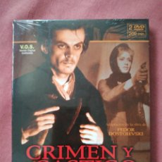 Cine: CRIMEN Y CASTIGO - VERSIÓN ORIGINAL RUSA EN 2 DVD - LEV KULIDZHANOV - DESCATALOGADA - PRECINTADA. Lote 179404925