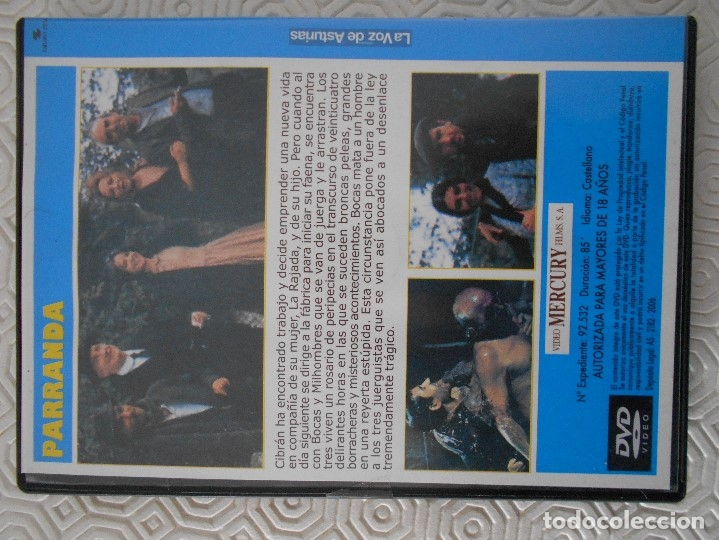 Cine: PARRANDA. DVD DE LA PELICULA DE GONZALO SUAREZ. CON JOSE LUIS GOMEZ, JOSE SACRISTAN, ANTONIO FERRAND - Foto 2 - 180108383