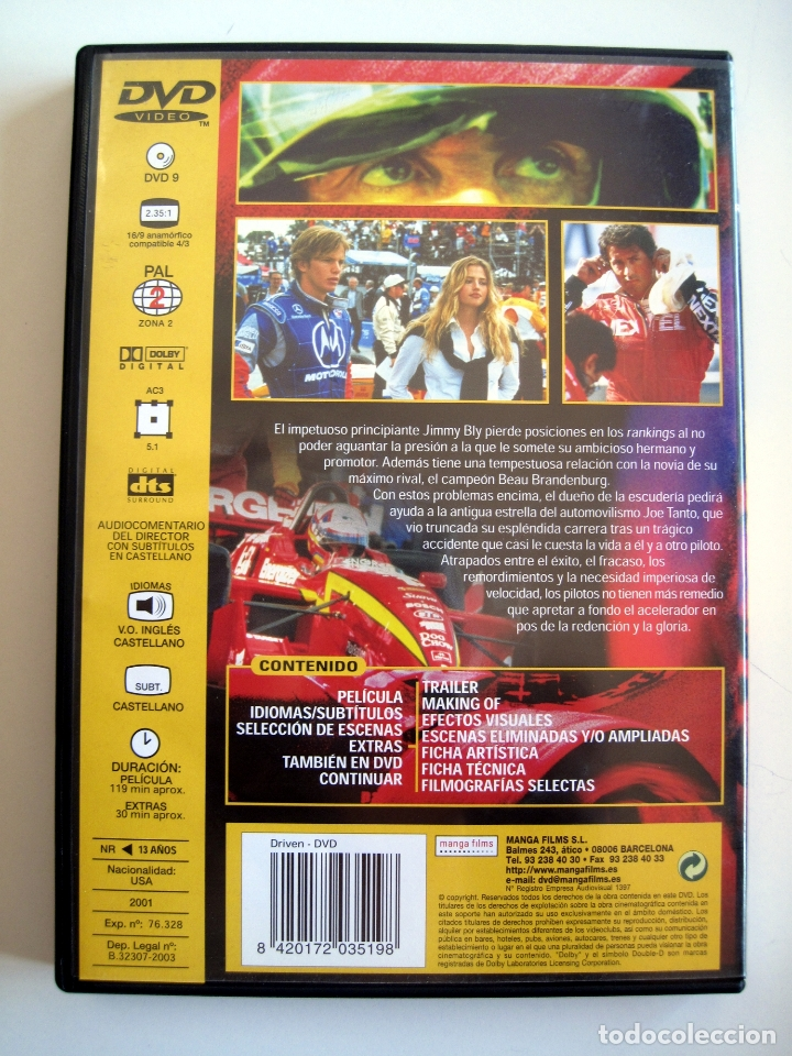 Cine: DRIVEN • DVD • Sylvester Stallone - Foto 2 - 180264918