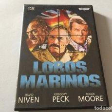Cine: DVD LOBOS MARINOS GREGORY PECK ROGER MOORE DAVID NIVEN TREVOR HOWARD EDICION SOGEMEDIA. Lote 180293125