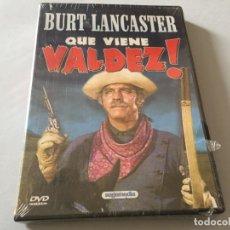 Cine: DVD QUE VIENE VALDEZ BURT LANCASTER WESTERN EDICION SOGEMEDIA PRECINTADA A ESTRENAR. Lote 180293141