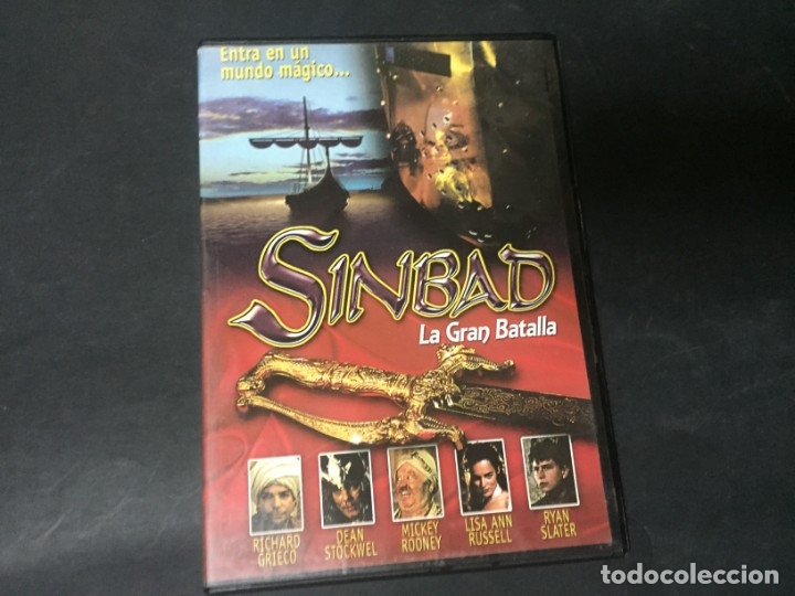 DVD SIMBAD SINBAD LA GRAN BATALLA MICKEY ROONEY RICHARD GRIECO RYAN SLATER (Cine - Películas - DVD)