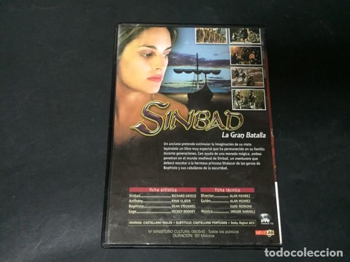 Cine: DVD SIMBAD SINBAD LA GRAN BATALLA Mickey Rooney Richard Grieco Ryan Slater - Foto 2 - 180295988