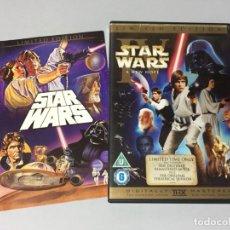 Cine: 2 DVD STAR WARS A NEW HOPE LA GUERRA DE LAS GALAXIAS VERSION ESTRENADA EN 1977 Y EDICION 1997 V.O. . Lote 180296121
