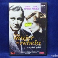 Cine: UNA MUJER SE REBELA - DVD. Lote 180453702