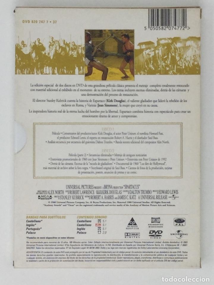 Cine: ESPARTACO EDICIÓN ESPECIAL 2 DVD - Foto 2 - 181070995