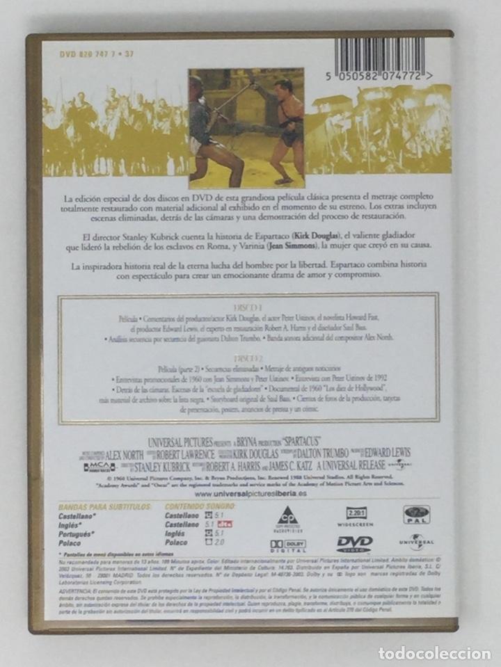 Cine: ESPARTACO EDICIÓN ESPECIAL 2 DVD - Foto 4 - 181070995