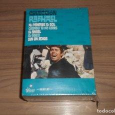 Cine: COLECCION RAPHAEL 5 DVD EL GOLGO - ANGEL - CUANDO NO ESTAS - SIN UN ADIOS - PONERSE SOL PRECINTADA. Lote 181429527